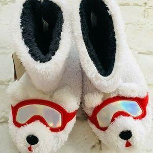 Cat & Jack Polar Bear Plush Slippers Child Youth